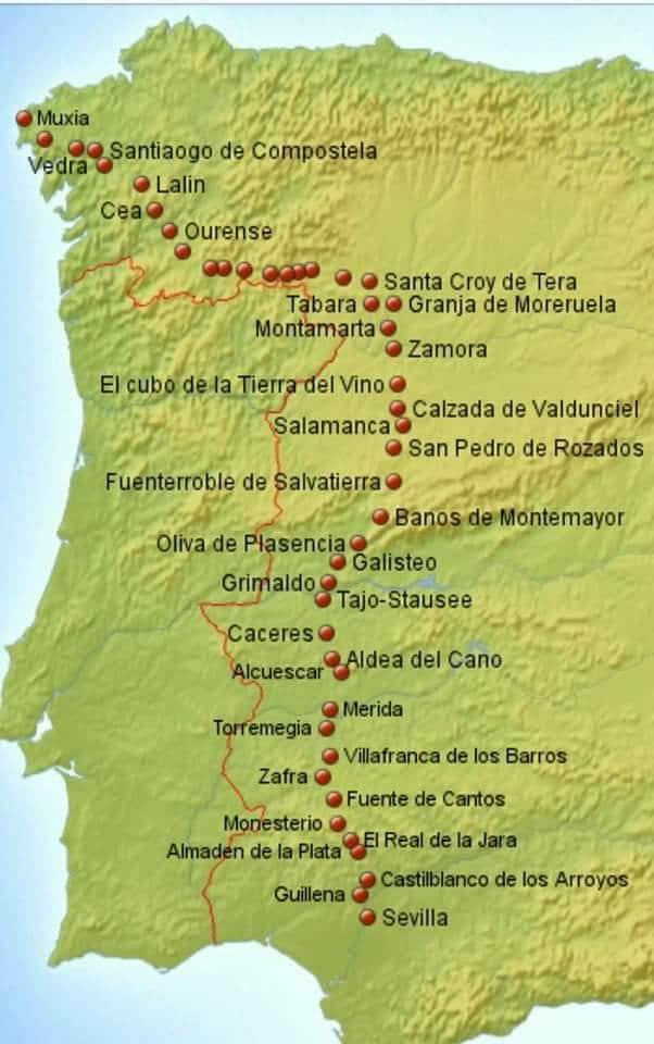 Via de la plata map