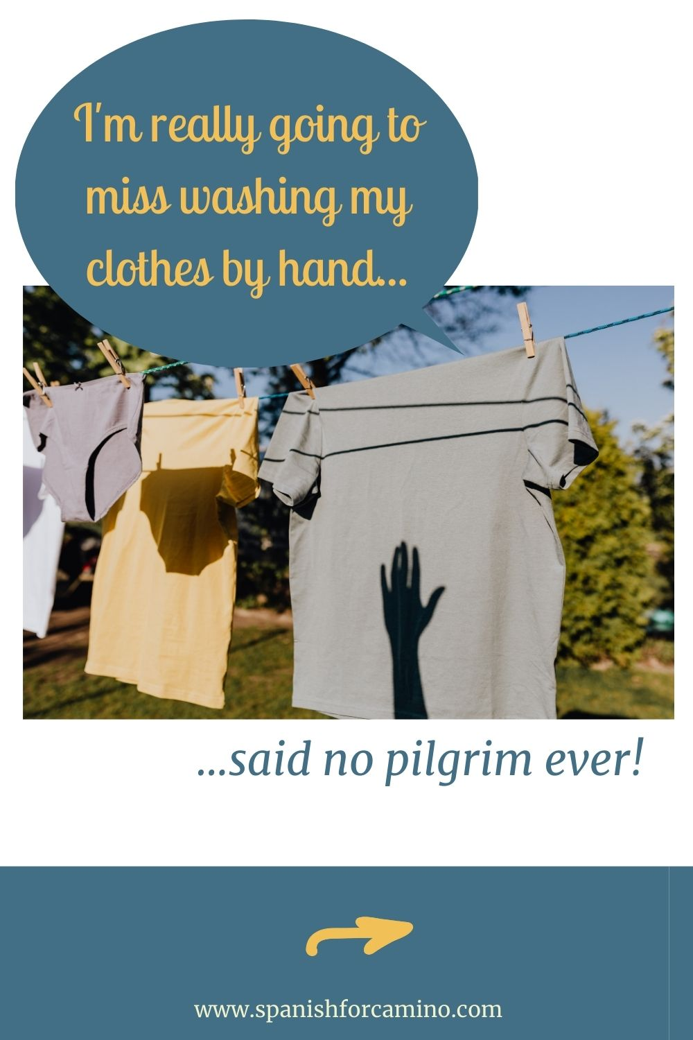 washing your clothes on the Camino